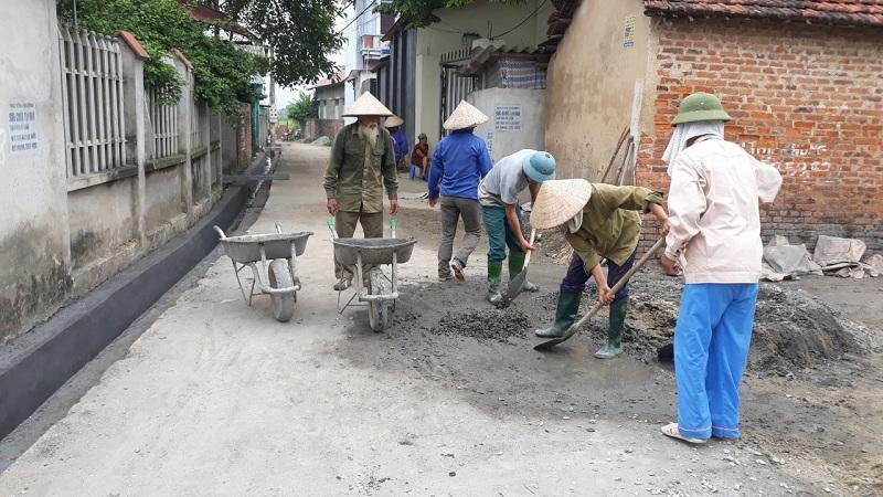 Vĩnh Phúc: Xã An Hoà huy động sức dân trong xây dựng cống rãnh thoát nước