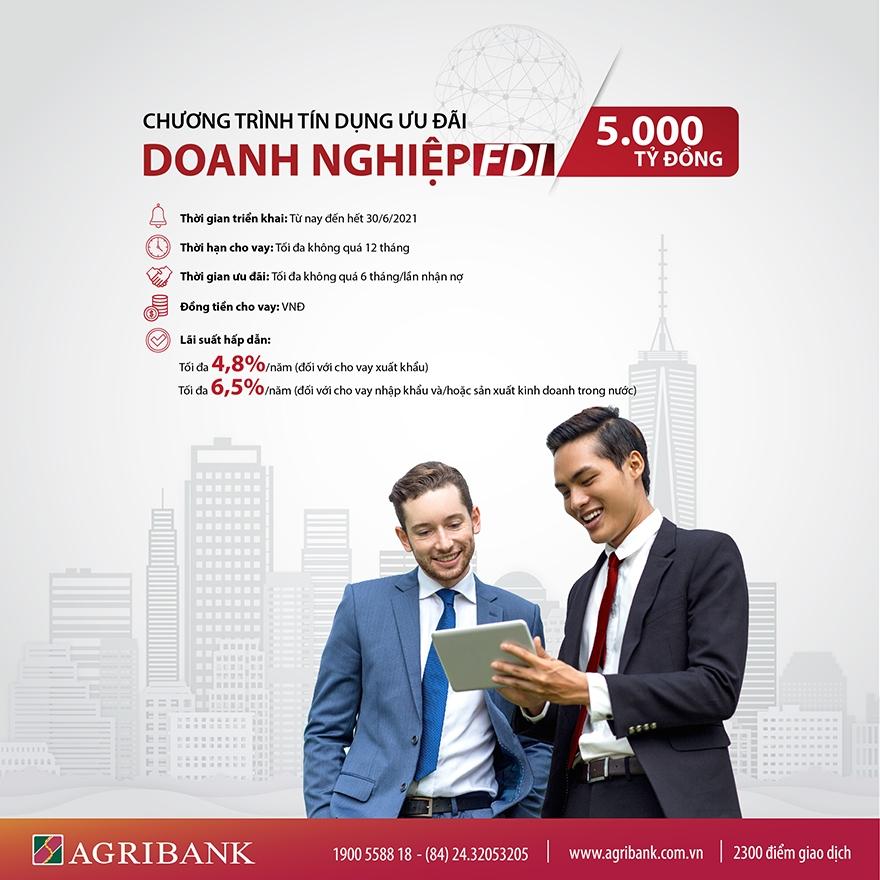 agribank danh 5000 ty dong cho vay uu dai khach hang doanh nghiep fdi