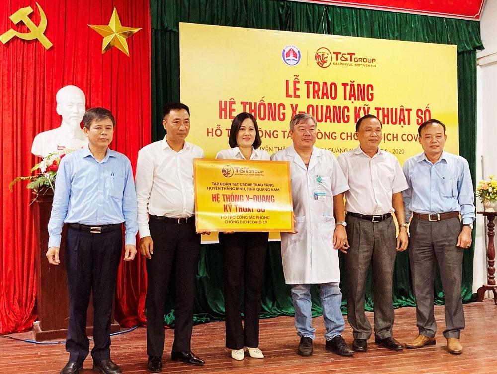 Quảng Nam: T&T Group trao tặng hệ thống X-Quang kỹ thuật số cho huyện Thăng Bình phòng chống dịch Covid-19