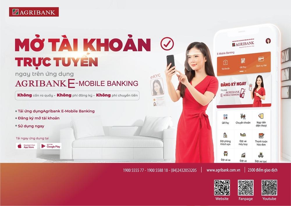 """Agribank ra mắt dịch vụ """"Mở tài khoản nhanh - Không cần đến Bank"""""""