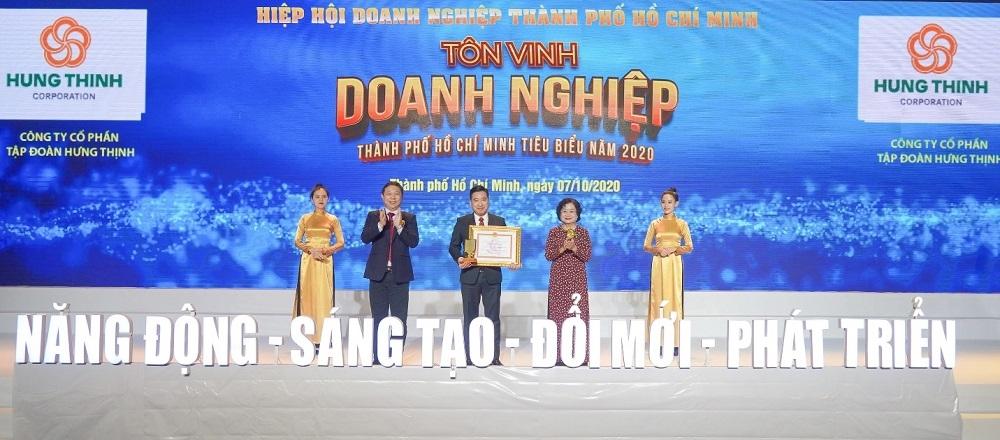 Tập đoàn Hưng Thịnh được vinh danh ở 3 hạng mục giải thưởng Doanh nghiệp, Doanh nhân Thành phố Hồ Chí Minh tiêu biểu năm 2020