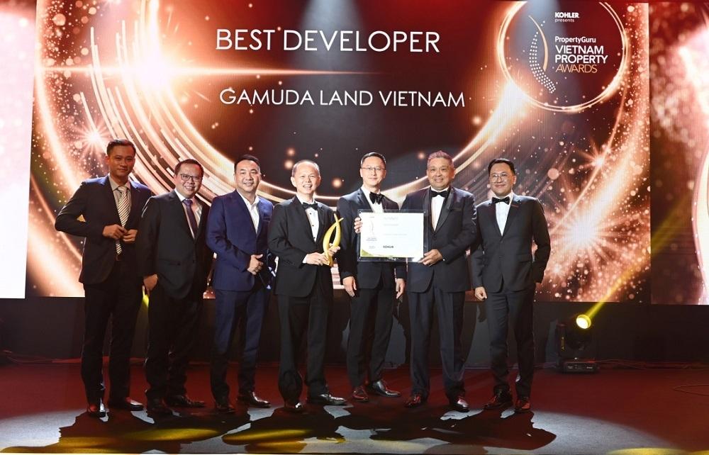 """Gamuda Land Việt Nam được vinh danh là """"Nhà phát triển bất động sản tốt nhất - Best Developer"""" tại giải thưởng PropertyGuru Vietnam Property Awards 20"""