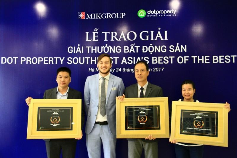 MIKGroup được vinh danh là đơn vị phát triển BĐS sáng tạo nhất Đông Nam Á