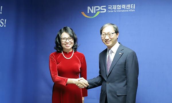 Bảo hiểm xã hội Việt Nam tăng cường hợp tác với Cơ quan Hưu trí Quốc gia Hàn Quốc