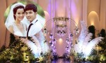 Không gian tiệc cưới ngập tràn đèn và hoa của Ưng Hoàng Phúc