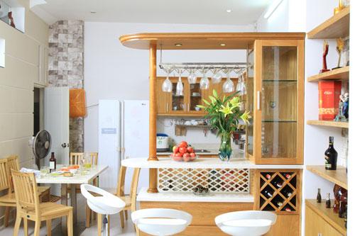 Quầy bar tiện dụng trong ngôi nhà hiện đại