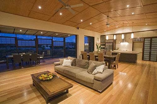 Thiết kế phòng khách theo phong cách mở (2)