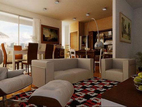 Thiết kế phòng khách theo phong cách mở (4)