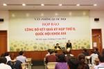 Họp báo công bố kết quả Kỳ họp thứ 8, Quốc hội khóa XIII
