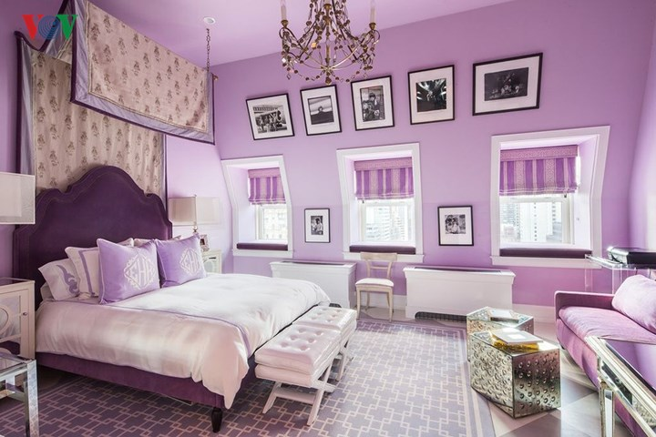 Lãng mạn sắc tím trong thiết kế nội thất