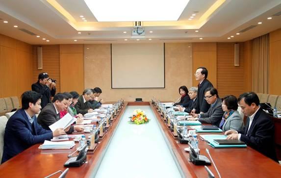 Đoàn công tác của Ban Bí thư chỉ đạo Hội nghị kiểm điểm tại Ban cán sự  Đảng Bộ Xây dựng