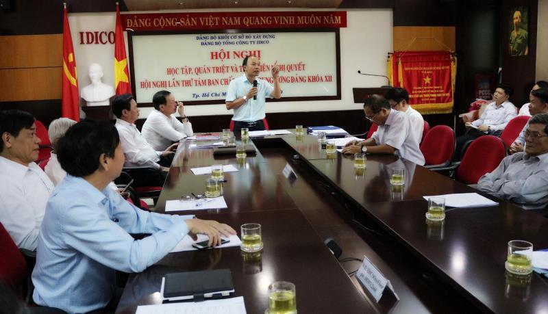 Đảng bộ Tổng Cty IDICO – CTCP: Học tập, quán triệt và triển khai thực hiện Nghị quyết Trung ương 8 Ban chấp hành Trung ương Đảng khóa XII