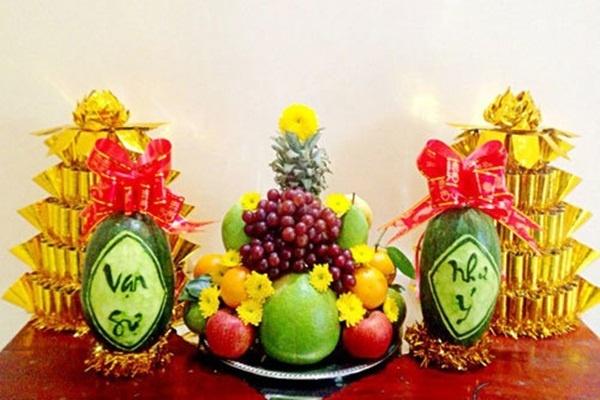 Gợi ý những loại trái cây không thể thiếu trên bàn thờ, phòng khách ngày Tết