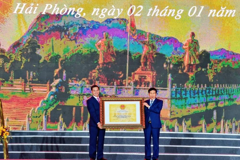 Hải Phòng: Đón nhận bằng xếp hạng Di tích lịch sử quốc gia Khu di tích Bạch Đằng Giang