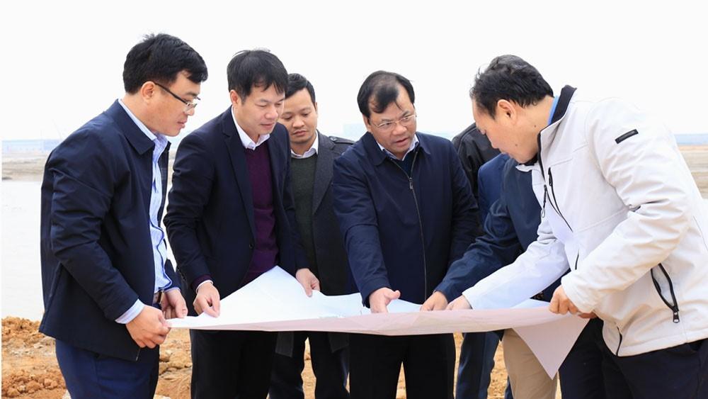 Phó Chủ tịch UBND tỉnh Bắc Giang yêu cầu sớm bàn giao toàn bộ mặt bằng Khu công nghiệp Quang Châu