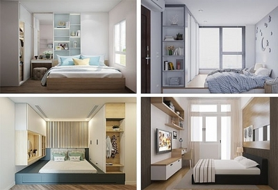 Tuyệt chiêu bố trí nội thất phòng ngủ có diện tích nhỏ
