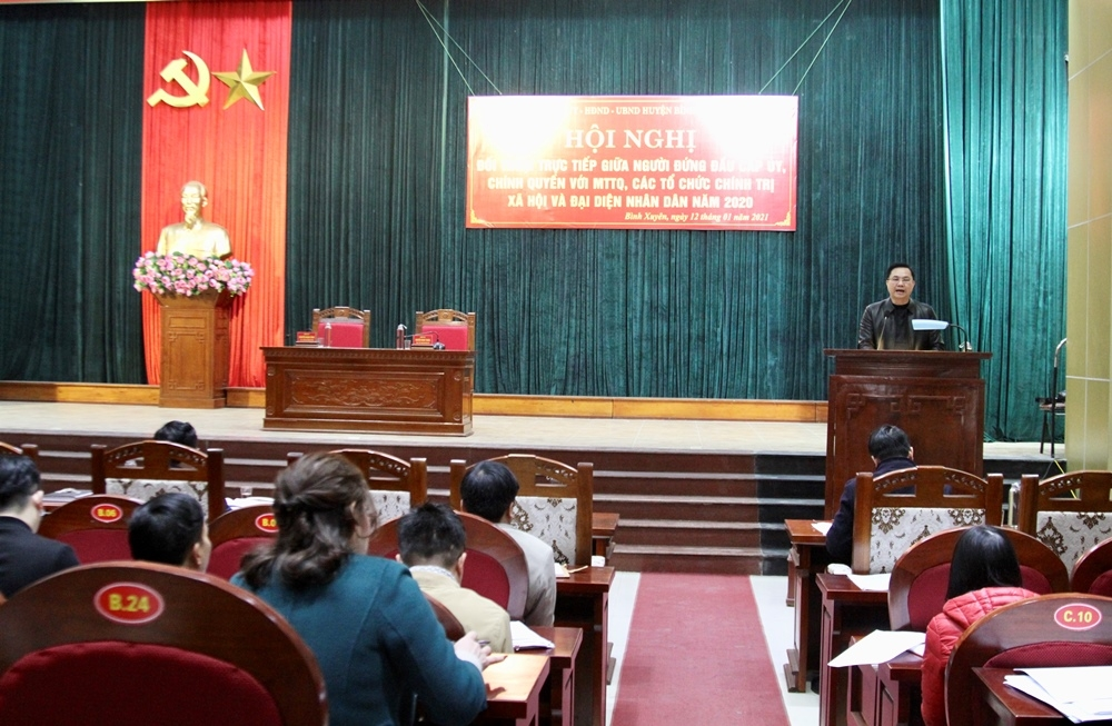 Vĩnh Phúc: Đối thoại giữa người đứng đầu cấp ủy, chính quyền với nhân dân trên địa bàn huyện Bình Xuyên