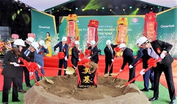 Nghệ An: Khởi công nhà máy chế tạo thiết bị điện tử thông minh 100 triệu USD