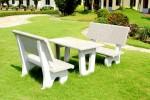Ưu điểm của bàn ghế đá hoa cương ngoài trời và cách bảo quản