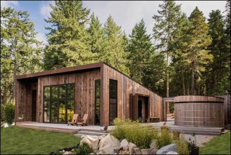 Cabin trong mơ thu nước mưa và ánh sáng tự nhiên nhằm giảm dấu chân carbon