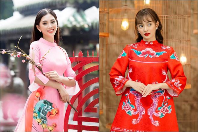 Dàn mỹ nhân Việt đồng loạt diện áo dài đón Tết