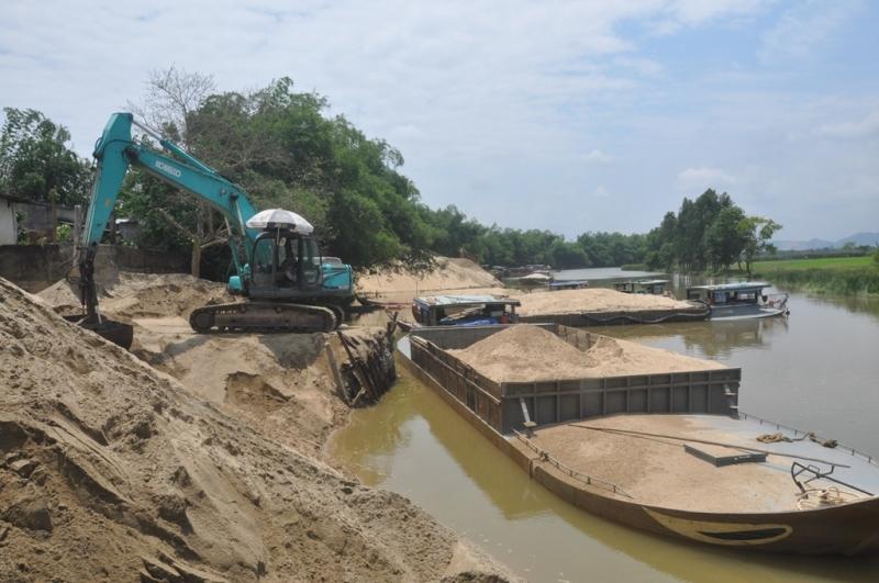 Huyện Ba Chẽ chưa được xem xét gia hạn thời gian thu gom cát sỏi