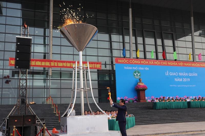 Vĩnh Yên (Vĩnh Phúc): Tổ chức giao nhận quân năm 2019