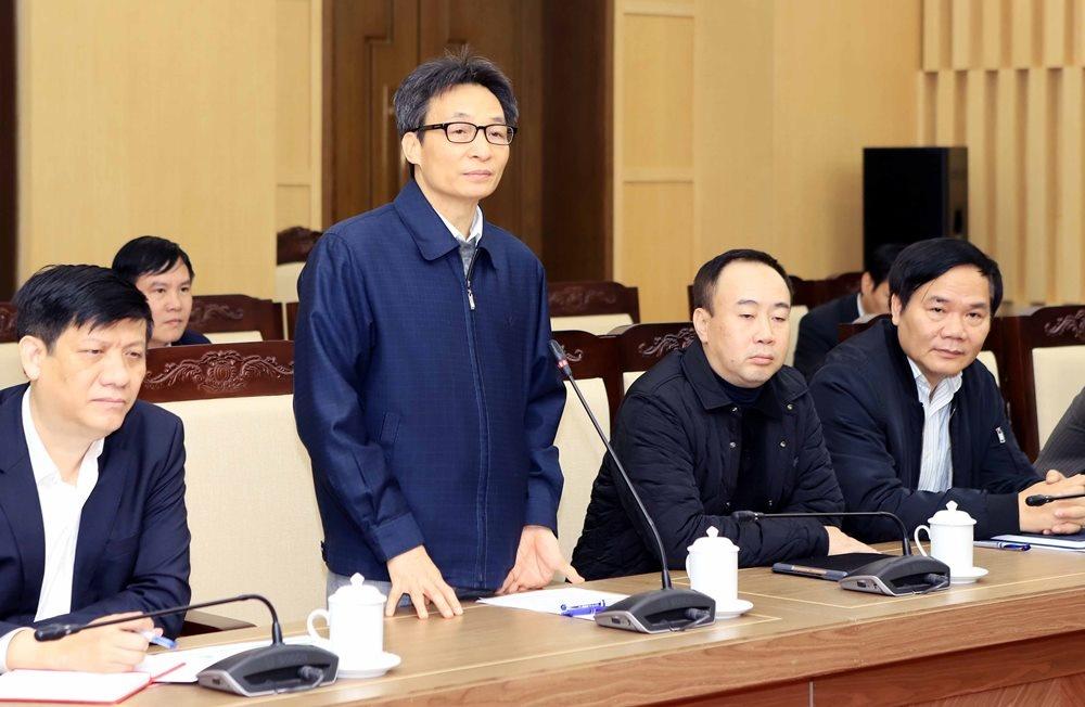 Phó Thủ tướng Vũ Đức Đam làm việc với tỉnh Vĩnh Phúc về công tác phòng, chống dịch Corona