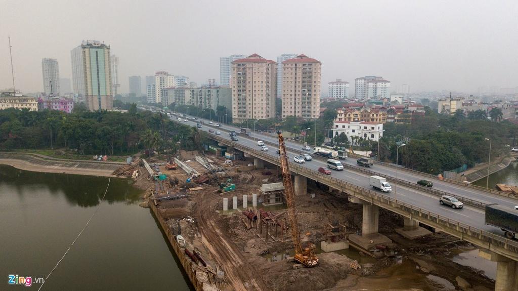 Hai cây cầu trăm tỷ qua mặt hồ Linh Đàm