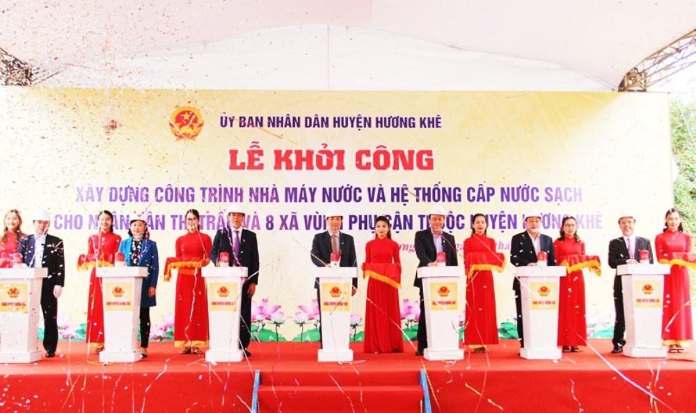 ha tinh khoi cong nha may nuoc sach co von dau tu 229 ty dong