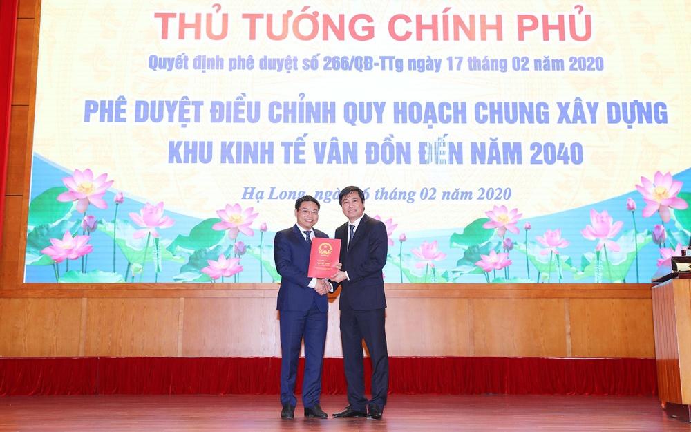 Quảng Ninh: Công bố Quyết định điều chỉnh quy hoạch chung xây dựng Khu kinh tế Vân Đồn đến năm 2040
