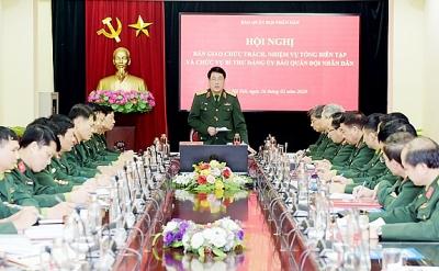 Bàn giao chức trách, nhiệm vụ Tổng biên tập và chức vụ Bí thư Đảng ủy Báo Quân đội nhân dân