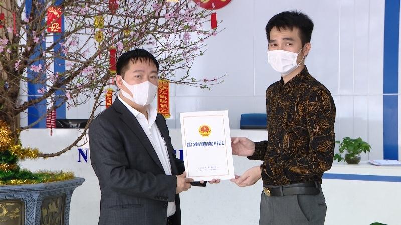 Quảng Ninh: Ban Quản lý Khu kinh tế trao Giấy chứng nhận đầu tư cho dự án 30 triệu USD