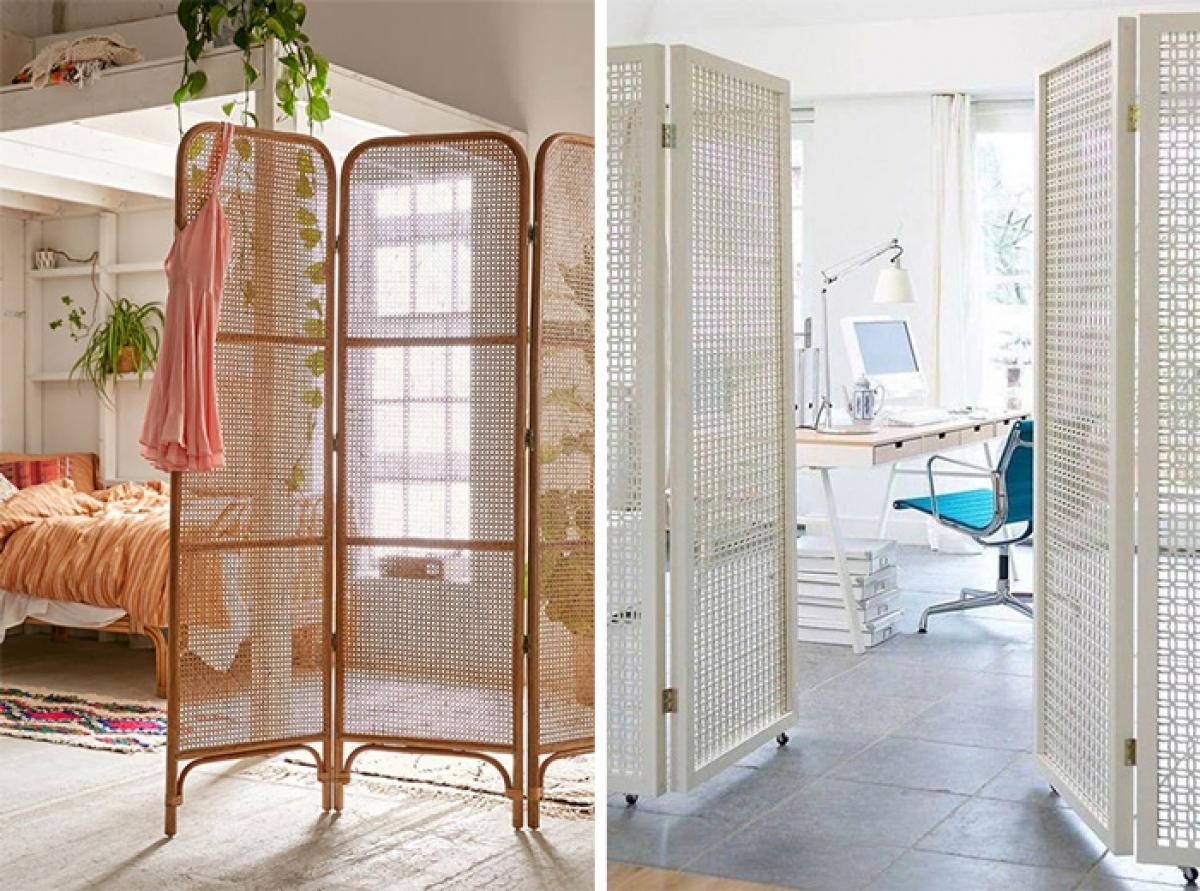 Ý tưởng thiết kế vách ngăn đơn giản, linh hoạt phù hợp với mọi không gian