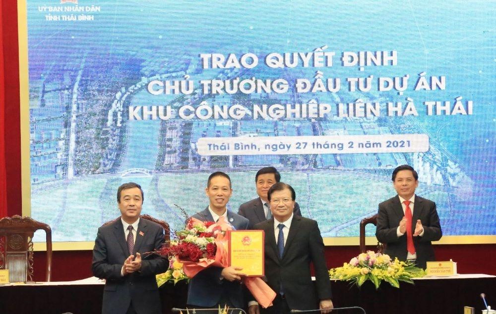 Thái Bình: Công bố Quyết định của Thủ tướng Chính phủ về đầu tư xây dựng dự án Khu công nghiệp Liên Thái Hà quy mô gần 600ha
