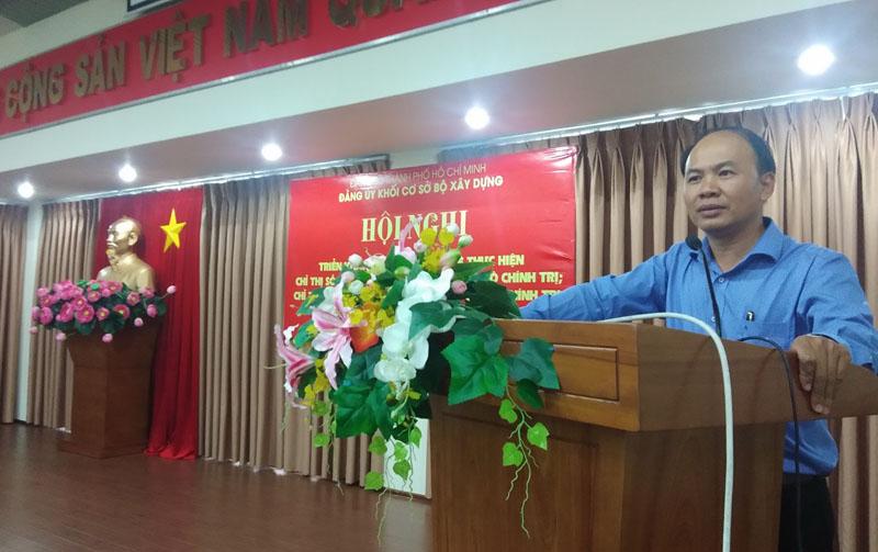 Đảng ủy Khối cơ sở Bộ Xây dựng: Triển khai học tập tư tưởng, đạo đức phong cách Hồ Chí Minh chuyên đề năm 2019