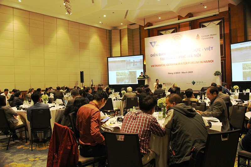Diễn đàn ngành Nước Đức – Việt tại TP Hà Nội: Đổi mới công nghệ, nhu cầu thiết yếu cho phát triển bền vững ngành Nước Việt Nam