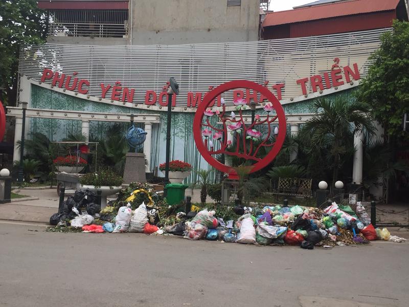 """Phúc Yên (Vĩnh Phúc): Tái diễn tình trạng thành phố """"ngập"""" trong rác"""