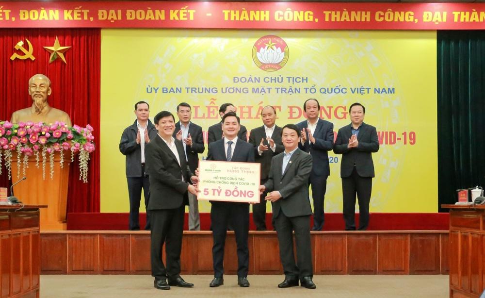Hưng Thịnh ủng hộ 5 tỷ đồng chống dịch Covid-19