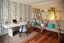 Biến tấu nội thất tronng nhà bằng cách dùng thang để trang trí