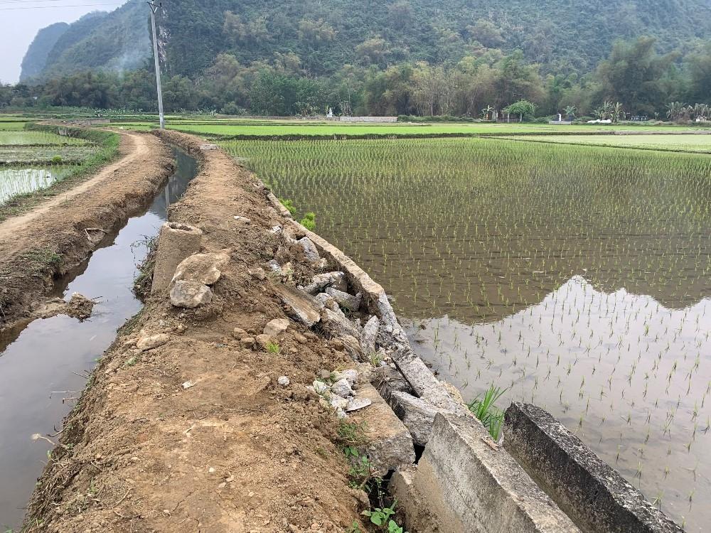 Định Hoá (Thái Nguyên): Công trình kênh mương nội đồng hư hỏng do lượng nước lớn
