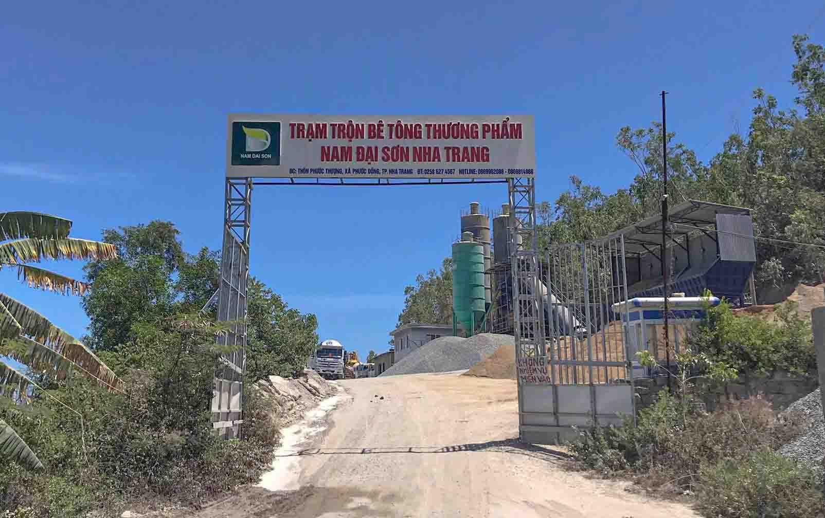 Khánh Hòa: Kiến nghị cưỡng chế tháo dỡ trạm trộn bê tông Công ty Eden
