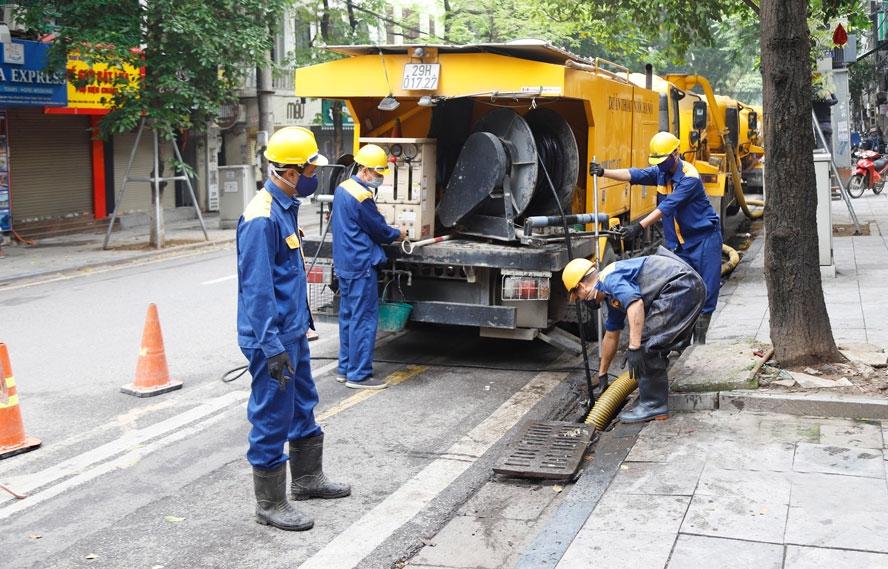 Hà Nội ban hành đơn giá thoát nước đô thị