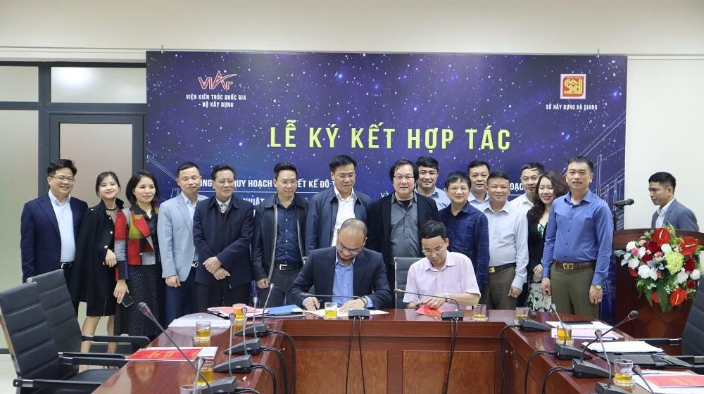 Viện Kiến trúc Quốc gia ký kết hợp tác với Sở Xây dựng Hà Giang