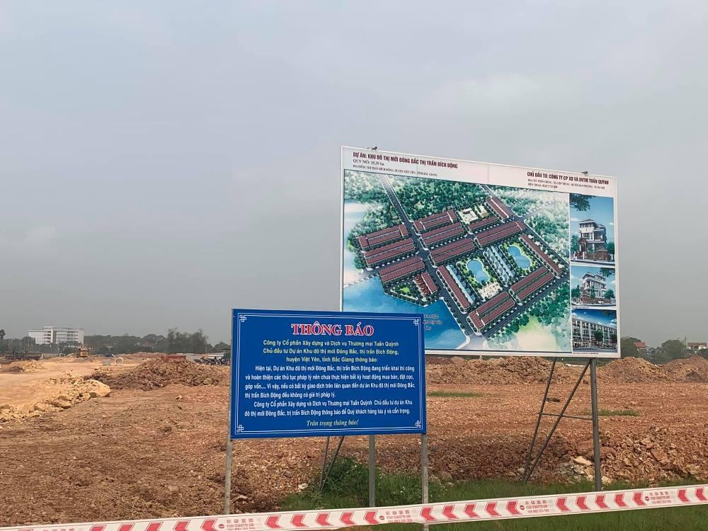"""Bắc Giang: """"Vượt mặt"""" chủ đầu tư, nhiều cá nhân nhận đặt cọc trái phép tại dự án Khu đô thị mới Đông Bắc"""