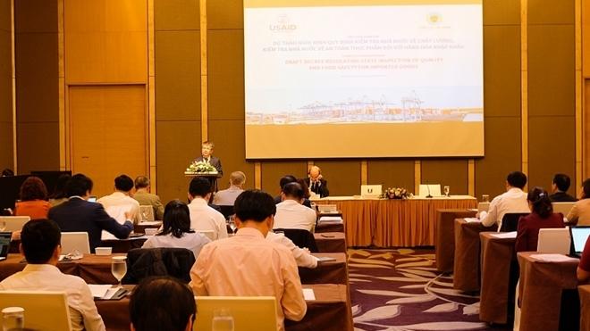 Tham vấn ý kiến xây dựng Nghị định kiểm tra chất lượng, kiểm tra an toàn thực phẩm đối với hàng hóa nhập khẩu