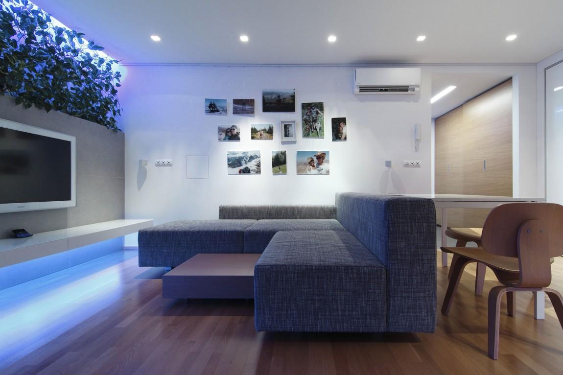 105150baoxaydung image004 Chiêm ngưỡng căn hộ hiện đại với hệ thống chiếu sáng bằng đèn LED