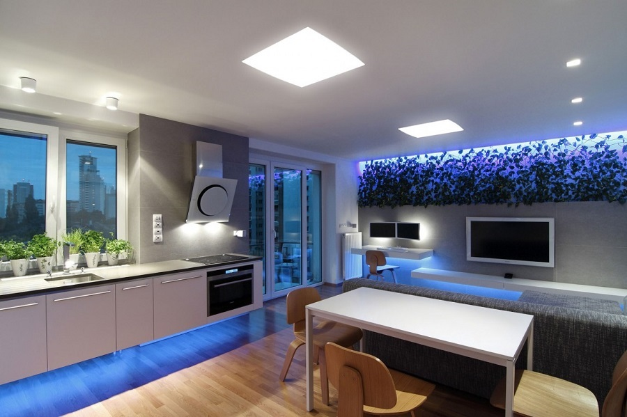 105150baoxaydung image006 Chiêm ngưỡng căn hộ hiện đại với hệ thống chiếu sáng bằng đèn LED