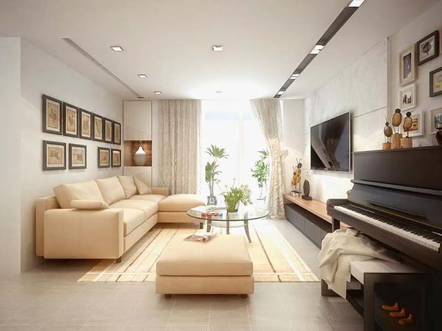 Cách nới rộng không gian bằng màu sắc cho phòng khách nhỏ hẹp