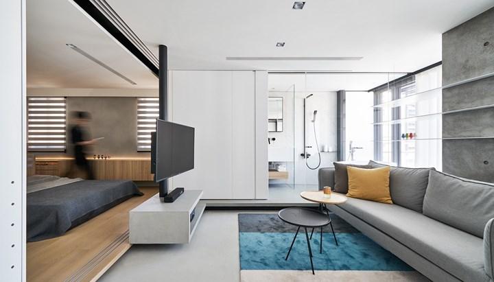 Nội thất dễ làm mà dễ dàng trong căn hộ 46m2